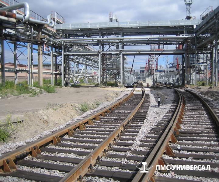 Строительство железнодорожного пути (Объект перед сдачей) ОАО «ТГК-1» ТЭЦ-14, 2015 г.