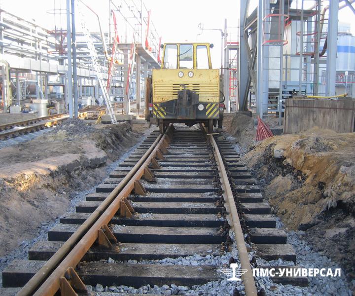Строительство железнодорожного пути (Выправка пути машиной ПРМ) ОАО «ТГК-1» ТЭЦ-14, 2015 г.