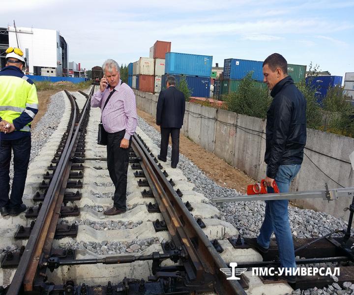 Строительство железной дороги (приемка объекта комиссией) ЗАО «ЮИТ Санкт-Петербург», 2014 г.