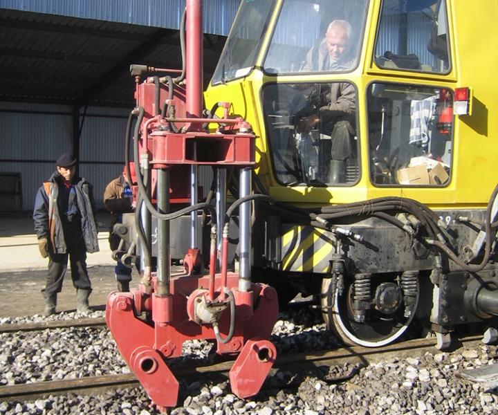Строительство железнодорожного пути ЗАО «ГОТЕК», 2008 г.