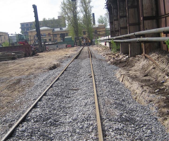 Строительство железнодорожного пути ЗАО «Нева Металл», 2009