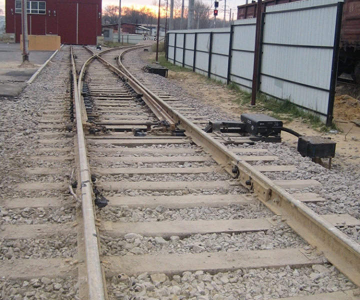 Строительство железной дороги на ст. Нарвская, 2009 год