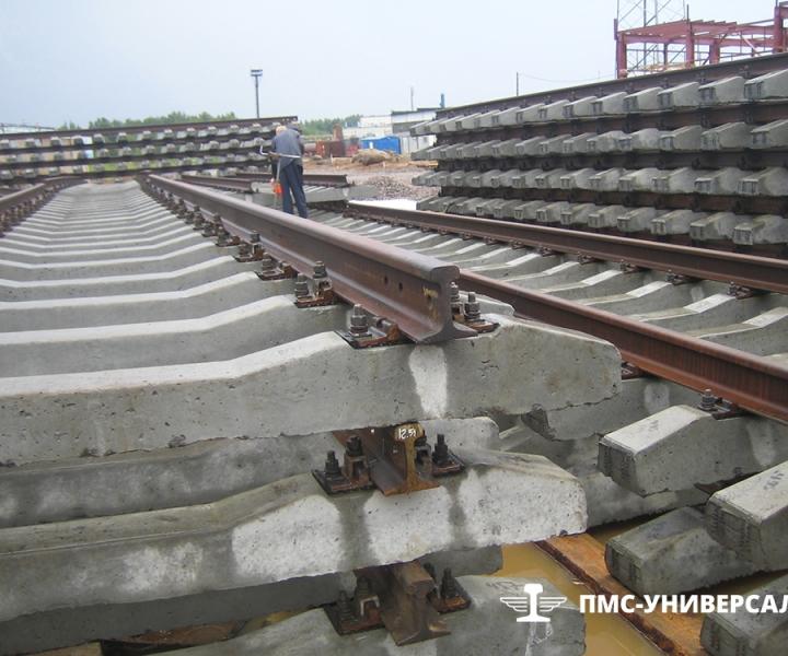 Строительство железной дороги (Звеносборочная база) на ЛАЭС, 2011 г.