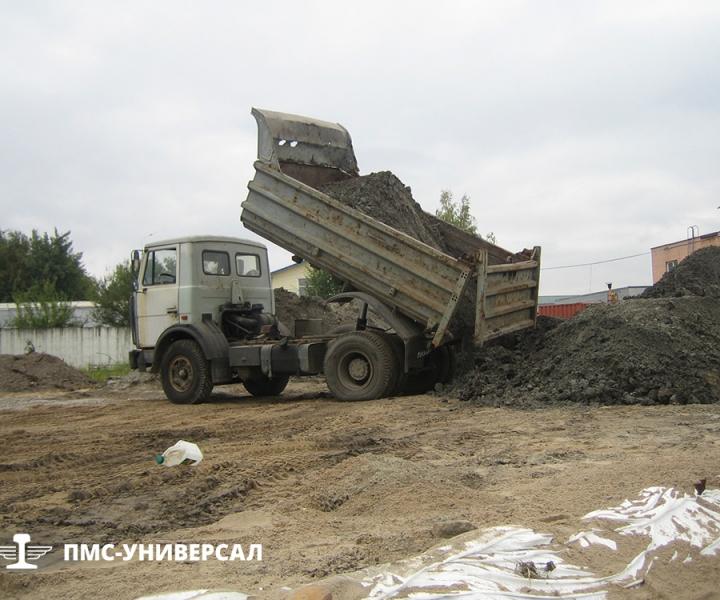 Строительство кранового пути (вывоз грунта на площадку временного складирования) ООО «ГРОМ», 2013 г.