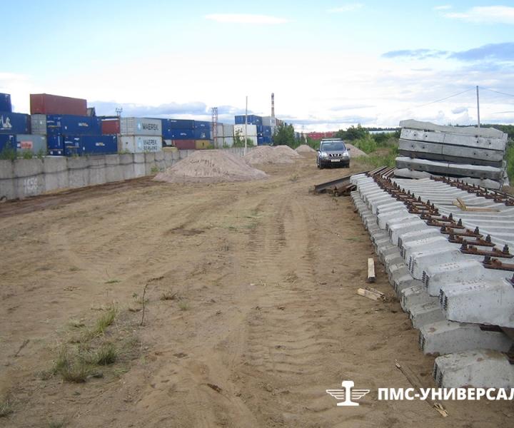 Строительство железной дороги (местная звеносборка) ЗАО «ЮИТ Санкт-Петербург», 2014 г.