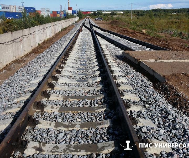 Строительство железной дороги (объект готов к сдаче) ЗАО «ЮИТ Санкт-Петербург», 2014 г.