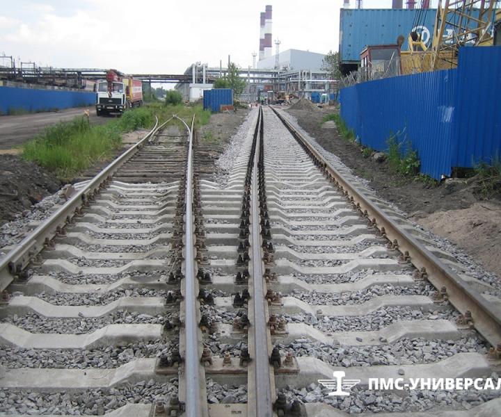Строительство железнодорожного пути ОАО «ТГК-1» ТЭЦ-14, 2015 г.