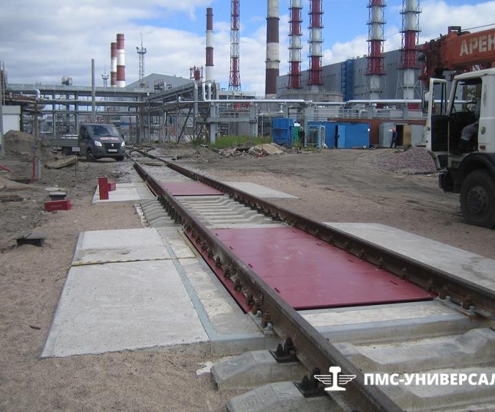 Строительство железнодорожного пути (Ж./д. весы) ОАО «ТГК-1» ТЭЦ-14, 2015 г.