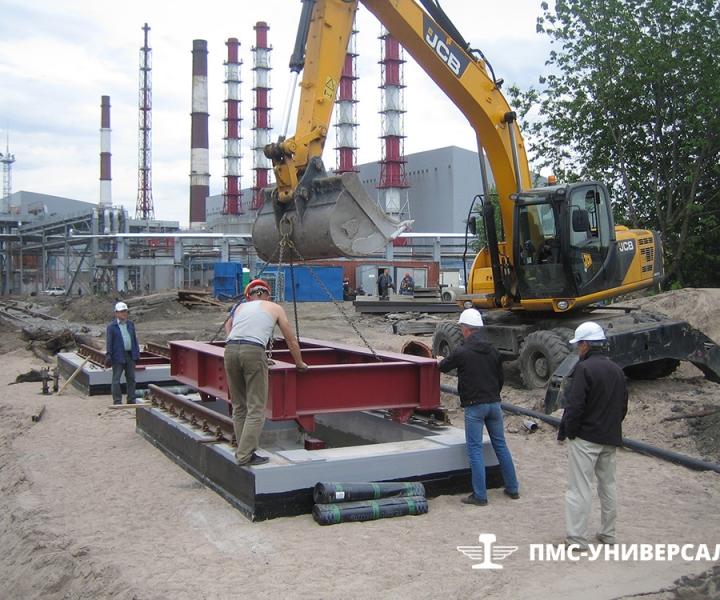 Строительство железнодорожного пути (Монтаж ж./д. весов) ОАО «ТГК-1» ТЭЦ-14, 2015 г.