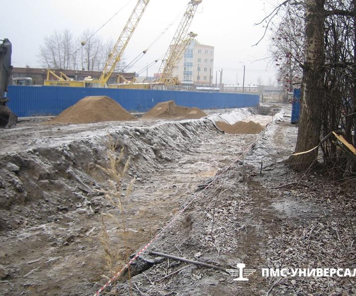Строительство железнодорожного пути (подготовка корыта и отсыпка земляного полотна) ОАО «ТГК-1» ТЭЦ-14, 2015 г.