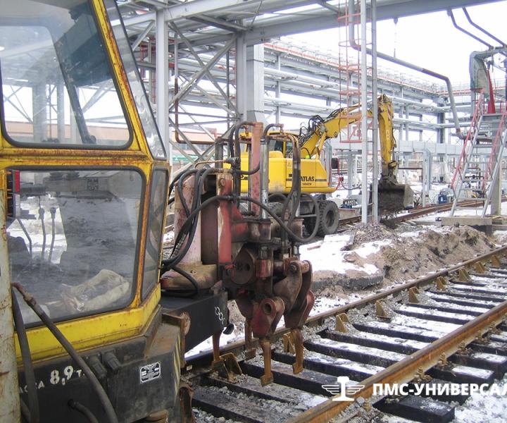 Строительство железнодорожного пути (Техника в работе) ОАО «ТГК-1» ТЭЦ-14, 2015 г.
