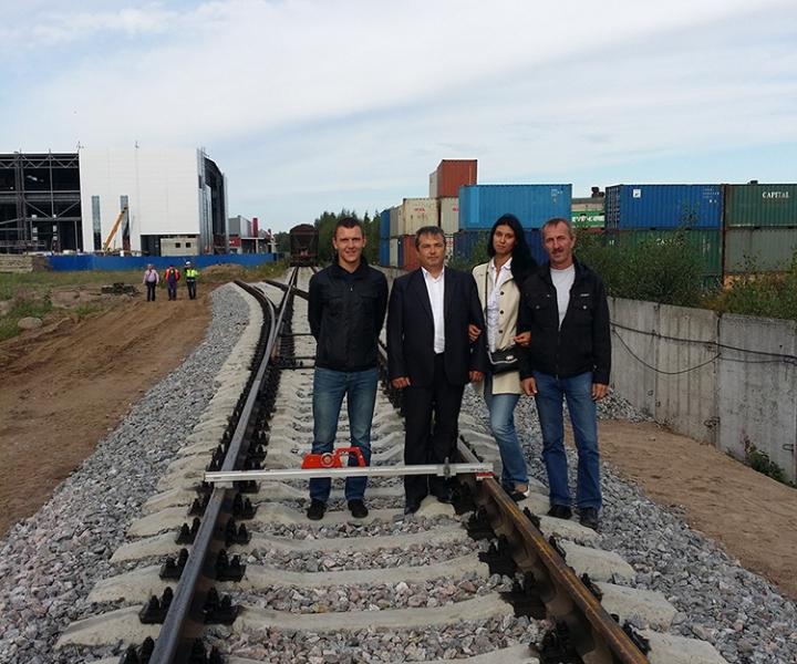 Строительство железной дороги (инженерно-технический состав предприятия) ЗАО «ЮИТ Санкт-Петербург», 2014 г.
