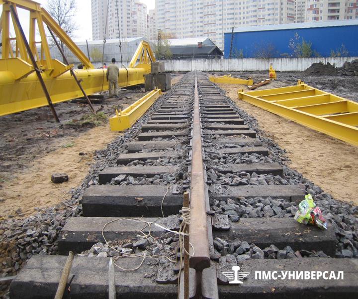 Строительство кранового пути (с такой прямолинейностью сдаются все объекты) ООО «ГРОМ», 2013 г.