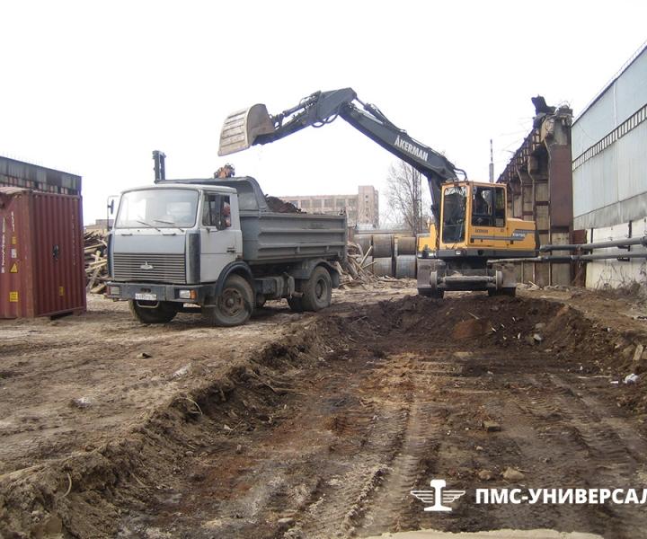 Строительство железнодорожного пути (устройство корыта) ЗАО «Нева Металл», 2009