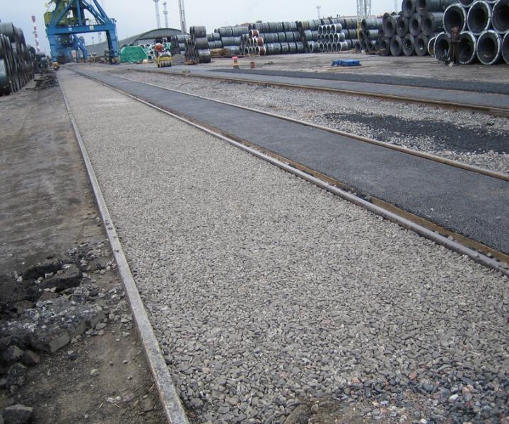 Капитальный ремонт железнодорожных и крановых путей ЗАО «Нева Металл», 2005 г.