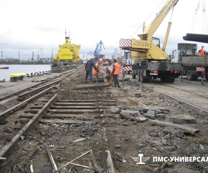 Капитальный ремонт железнодорожных путей ЗАО «Нева Металл», 2006 г.